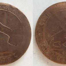 Monedas de España: ESPAÑA - 10 CÉNTIMOS, 1870 - KM# 663. Lote 141533882