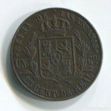 Monedas de España: ISABEL II. 25 CENTIMOS DE REAL, 1862. SEGOVIA. MUY BIEN. Lote 141539842