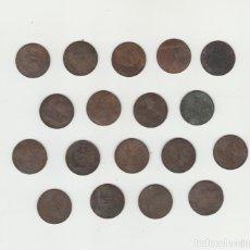 Monedas de España: LOTE DE 18 MONEDAS-GOBIERNO PROVISIONAL DE 2 CENTIMOS-1870. Lote 141781178