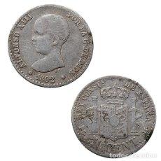 Monedas de España: ALFONSO XIII, 50 CÉNTIMOS 1892.. Lote 142083298