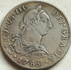 Moedas de Espanha: RÉPLICA MONEDA 4 REALES. 1785. REY CARLOS III, SANTIAGO DE CHILE, ESPAÑA. Lote 142095290