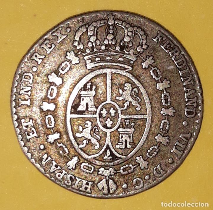 Monedas de España: MEDALLA DE PROCLAMACIÓN DE FERNANDO VII. (PLATA) 1808 MADRID (1 REAL). - Foto 2 - 119350231