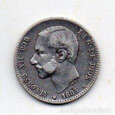 Monedas de España: ALFONSO XII. 1 PESETA. AÑO 1883 *18 *83. PLATA.. Lote 142457738