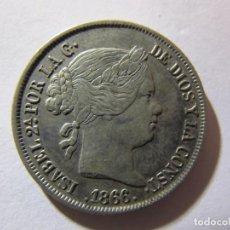 Monedas de España: 40 CÉNTIMOS DE ESCUDO - ISABEL II - 1866 - EBC. Lote 142459546