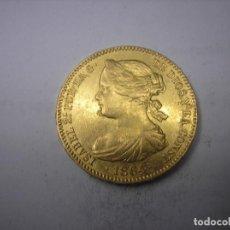 Monedas de España: 100 REALES DE ORO DE 1864, MADRID. REINA ISABEL II.. Lote 142505574