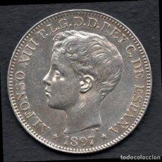 Monedas de España: 1 PESO - ALFONSO XIII - FILIPINAS 1897 - PRECIOSO - BRILLO ORIGINAL. Lote 142589370
