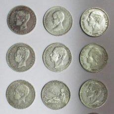 Monedas de España: 12 MONEDAS DE 5 PESETAS DE PLATA GOBIERNO PROVISIONAL, AMADEO I, ALFONSO XII, ALFONSO XIII LOTE-1379. Lote 142715474