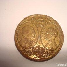 Monedas de España: MEDALLA-MONEDA.ALFONSO XIII Y PAPA.19,8 GR.-172. Lote 142758650