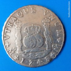 Monedas de España: FELIPE V 8 REALES PLATA 1743 MEXICO MF COLUMNARIO. Lote 142891124