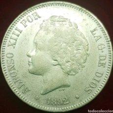 Monedas de España: MONEDA ALFONSO XIII 5 PESETAS PLATA 1892 * 92. Lote 143120629