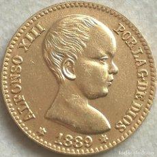 Monedas de España - RÉPLICA Moneda 20 Pesetas. 1889. Estrellas 18 89. Rey Alfonso XIII. Madrid, España. Rara - 143217070