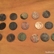 Monedas de España: ANTIGUAS 16 MONEDA / MONEDAS GOBIERNO PROVISIONAL 5 CENTIMOS AÑO 1870 VARIOS AÑOS COBRE. Lote 143228682