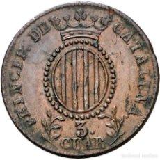 Monedas de España: ISABEL II, 3 CUARTOS DE CATALUÑA 1844 - 26 MM / 7,30 GR.. Lote 143230530