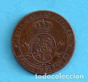 Monedas de España: MONEDA DE ISABEL II LA GRACIA DE DIOS Y LA CONST 1868 REINA DE LAS ESPANAS 1 CENTIMO DE ESCUDO - Foto 2 - 143286982