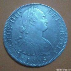 Monedas de España: 8 REALES DE PLATA CARLOS IIII, 1805 MÉXICO !! ESCASA !!. Lote 143332880