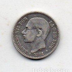 Monedas de España: ALFONSO XII. 50 CÉNTIMOS. AÑO 1881 *8*1. PLATA.. Lote 143624526