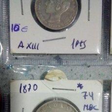 Monedas de España: MONEDA ESPAÑA 1870 2 PESETAS 100 PIEZAS EN KILOGRAMOS . Lote 143639262