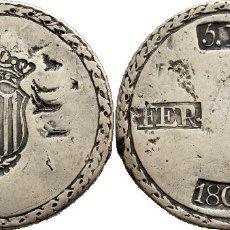 Monedas de España: 5 PESETAS FERNANDO VII 1809 TARRAGONA. Lote 143918490