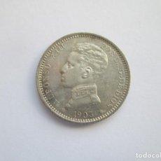 Monedas de España: ALFONSO XIII * 1 PESETA 1903*03 SM V * PLATA S/C. Lote 143931926