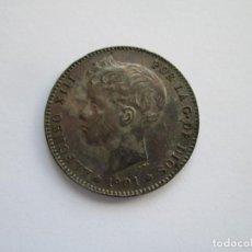 Monedas de España: ALFONSO XIII * 1 PESETA 1901*01 SM V * PLATA S/C. Lote 143938134