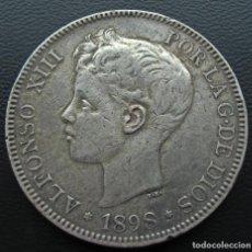 Monedas de España: ALFONSO XIII, 5 PESETAS, 1898, ESTRELLAS *18 Y *98 PLATA.... Lote 144500126