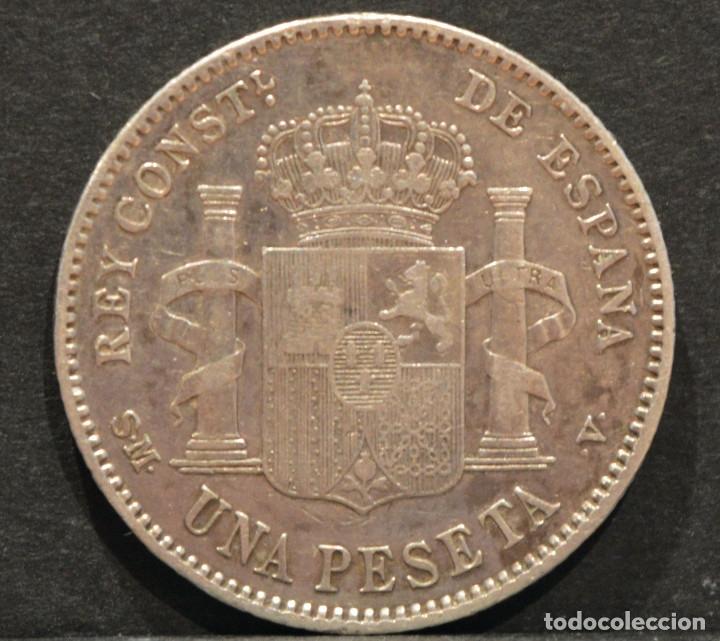 Monedas de España: 1 PESETA 1903 *19 *03 SMV PLATA ESPAÑA - Foto 3 - 52079551