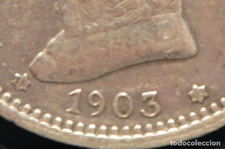 Monedas de España: 1 PESETA 1903 *19 *03 SMV PLATA ESPAÑA - Foto 4 - 52079551