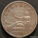 Monedas de España: 2 PESETAS 1870 *18 *73 PLATA. Lote 154136794