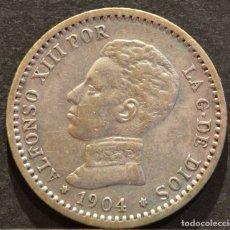 Monedas de España: 50 CÉNTIMOS 1904 *1 *0 P.C.V ALFONSO XIII ESPAÑA PLATA. Lote 58496864