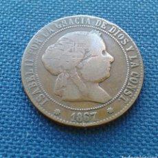 Monedas de España: 5 CÉNTIMOS DE ESCUDO 1867 BARCELONA. Lote 144851905