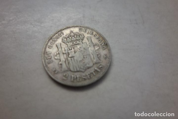 Monedas de España: MONEDA 2 PESETAS . ALFONSO XII AÑO 1882 - Foto 2 - 144869542