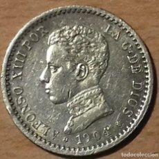 Monedas de España: MONEDA 50 CENTIMOS 1904 ALFONSO XIII - 50 CENTIMOS 1904 *1-0 PC V . PLATA. EBC++-SC. Lote 144901526