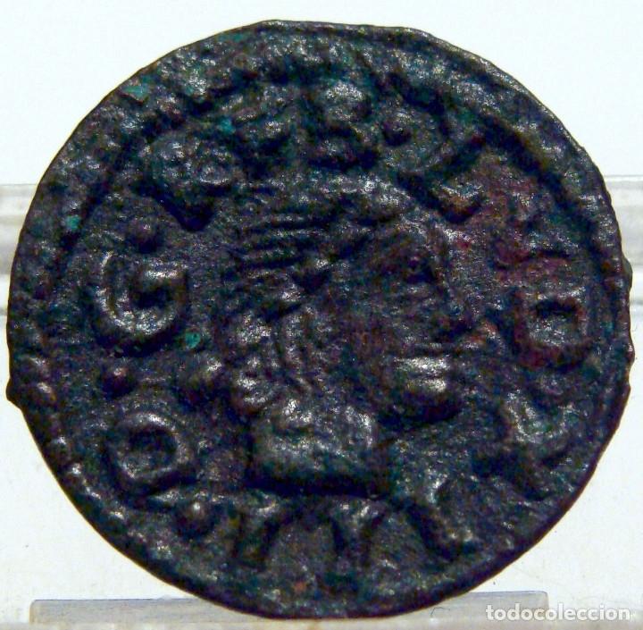 EXCEPCIONAL DINERO DE CERVERA GUERRA SEGADORS DINERO LUIS XIII DINERO FELIPE IV (Numismática - España Modernas y Contemporáneas - De Reyes Católicos (1.474) a Fernando VII (1.833))