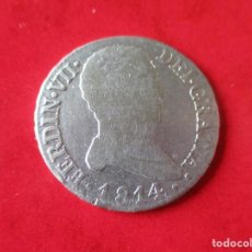 Monedas de España - Fernando VII. 2 reales de plata. 1814 GJ Madrid #mn - 145150626
