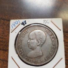 Monedas de España: MONEDA ALFONSO XIII 1891. Lote 145326508