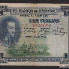 Monedas de España: 1925 BILLETE DE 100 PESETAS EPOCA ALFONSO XIII. Lote 145343038