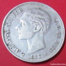 Monedas de España: ALFONSO XII. MONEDA DE 5 PESETAS. 1877 *18 *77. PLATA.. Lote 145505582