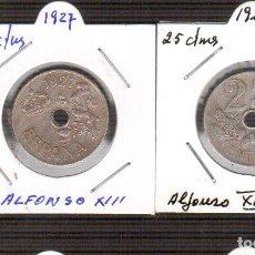 Monedas de España: UNA MONEDA DE ALFONSO XIII 25 CTMOS AÑO 1927 LA QUE VES . Lote 145519358