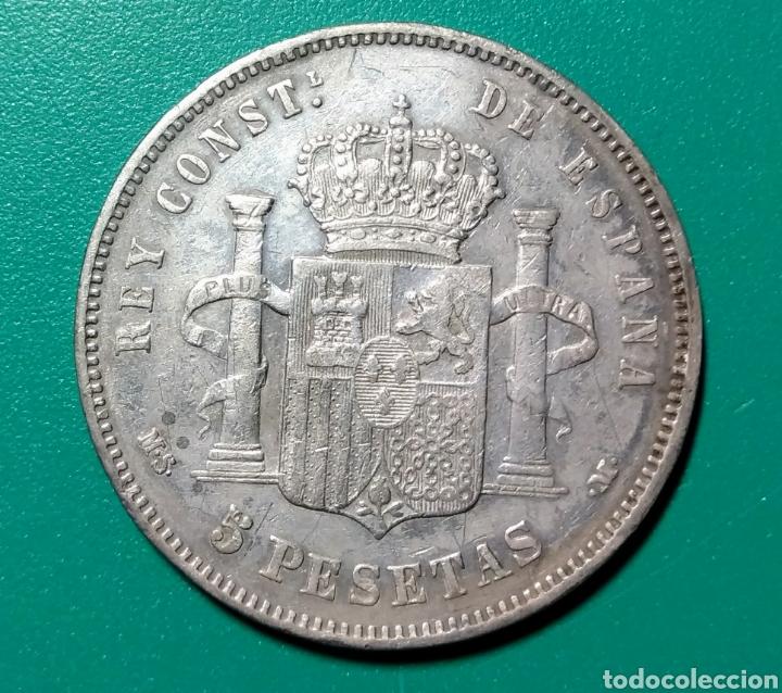 Monedas de España: 5 Pesetas plata 1884 *18*84 Alfonso XII - Foto 2 - 145632634