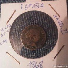 Monedas de España: MONEDA 1 CT.ESCUDO ISABEL II, 1868,OM.. Lote 145749906