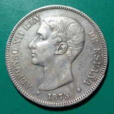 Monedas de España: 5 PESETAS PLATA 1875 *75 DEM. ALFONSO XII.. Lote 145928973