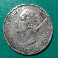 Monedas de España: 5 PESETAS PLATA 1875 *75 DEM. ALFONSO XII.. Lote 145932188