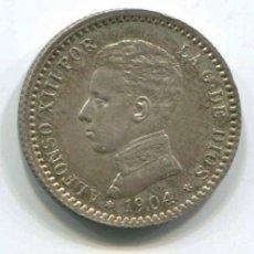 Monedas de España: ALFONSO XIII. 50 CÉNTIMOS PLATA, 1904. MUY BONITA. Lote 146072654