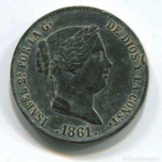 Monedas de España: ISABEL II. 25 CENTIMOS DE REAL, 1861, SEGOVIA. EXTRAORDINARIA. Lote 146078570