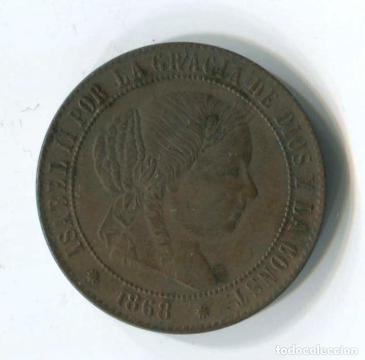 ISABEL II. 2 1/2 CÉNTIMOS DE ESCUDO, 1868. BARCELONA (Numismática - España Modernas y Contemporáneas - De Isabel II (1.834) a Alfonso XIII (1.931))