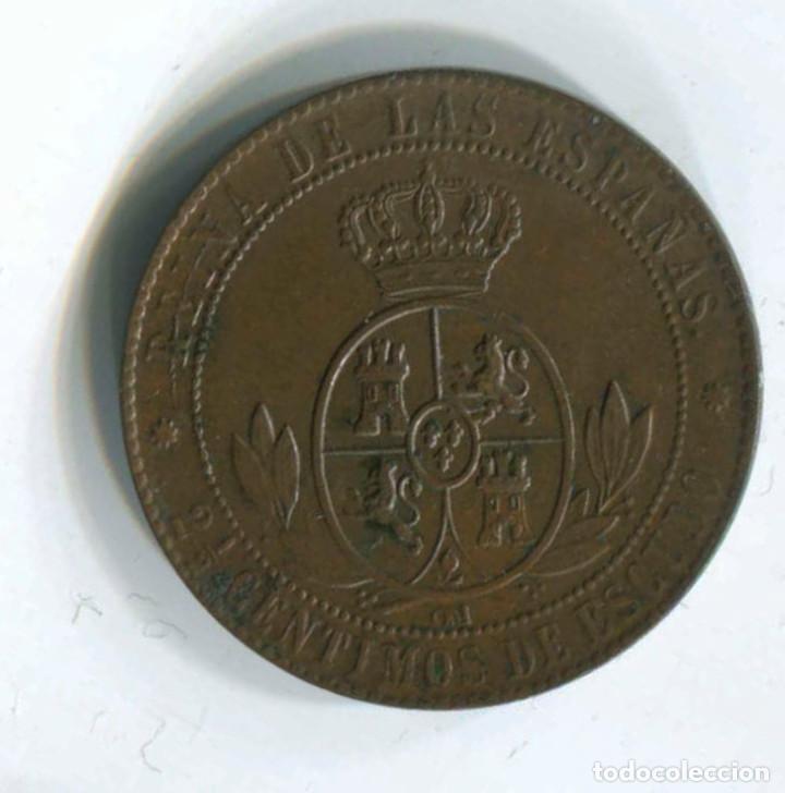Monedas de España: Isabel II. 2 1/2 céntimos de escudo, 1868. Barcelona - Foto 2 - 146079030