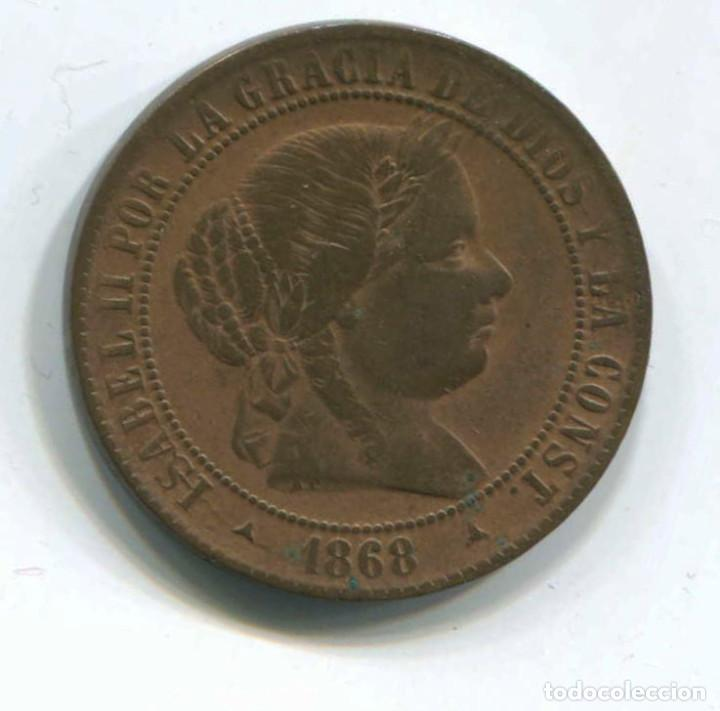 ISABEL II. 2 1/2 CÉNTIMOS DE ESCUDO, 1868. SEGOVIA (Numismática - España Modernas y Contemporáneas - De Isabel II (1.834) a Alfonso XIII (1.931))