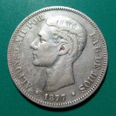 Monedas de España: 5 PESETAS PLATA 1877 DEM. ALFONSO XII.. Lote 146168125