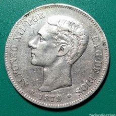 Monedas de España: 5 PESETAS PLATA 1879 EMM. ALFONSO XII.. Lote 146176696