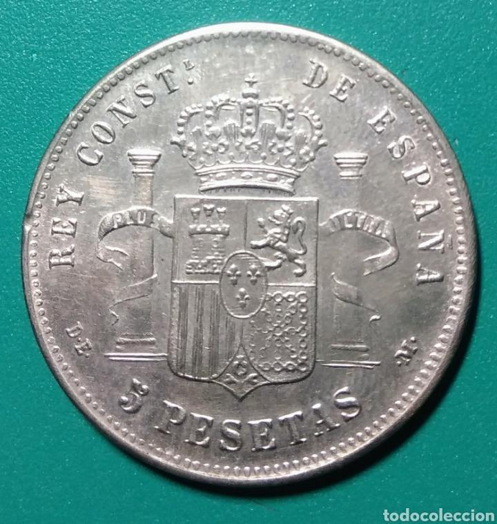 Monedas de España: 5 Pesetas plata 1881. DEM. Alfonso XII. - Foto 2 - 146276892